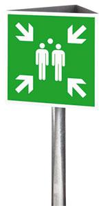 Fluchtwegkennzeichnung Sammelstelle
