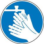 Gebotsschild Händewaschen