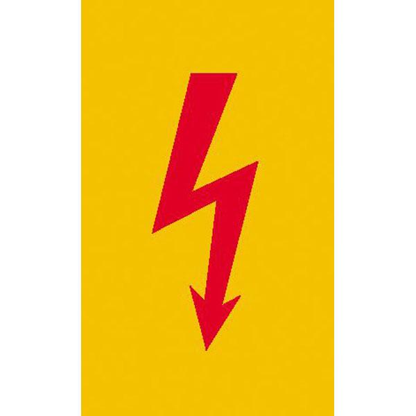 Warnschild Spannungszeichen (Roter Blitz)