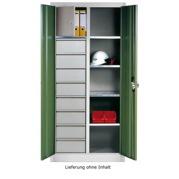 c p werkzeug und materialschrank mit 8 schubladen 4 einlegeb den und wertfach. Black Bedroom Furniture Sets. Home Design Ideas