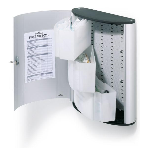 verbandschr nke durable erste hilfe box nach din 13157. Black Bedroom Furniture Sets. Home Design Ideas