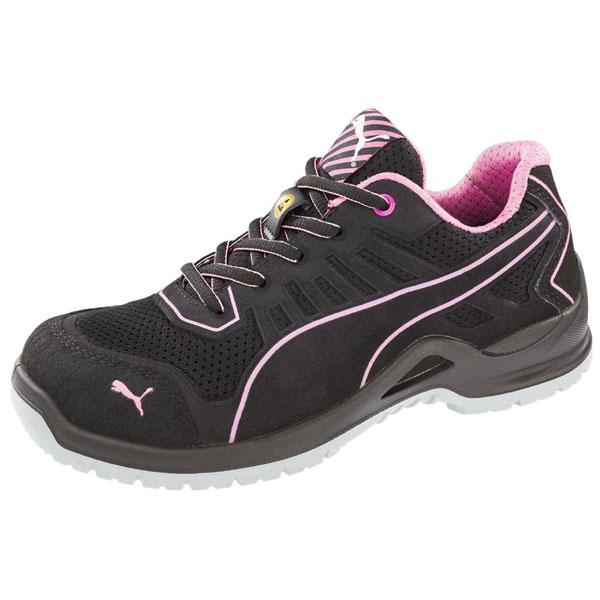 Puma Sicherheitsschuhe Fuse Tc Pink Wns Low S1P ESD SRC Halbschuhe speziell für Damen mit Stahlkappe