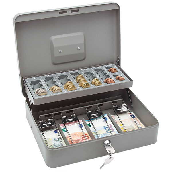 Wedo Geldzählkassette Standard Plus Für Banknoten Und Euro Münzen Herausnehmbarer Einsatz Mit Haltebügeln
